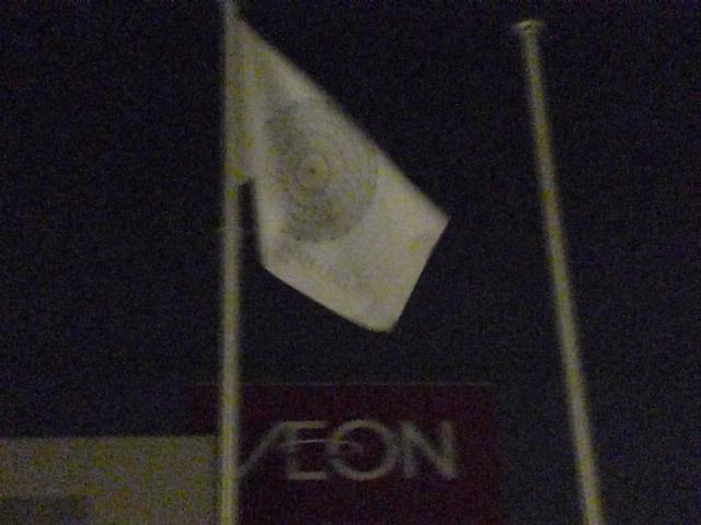 翻る旗はたはた