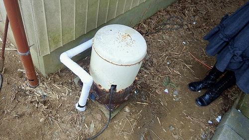 井戸ポンプ凍結対応処理1