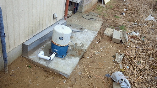 井戸ポンプコンクリート復旧