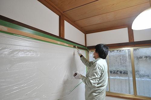 幅木塗装7