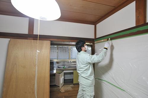 幅木塗装8