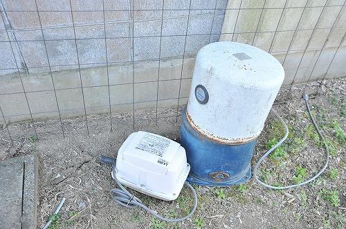 井戸ポンプとブロアーさんは退避