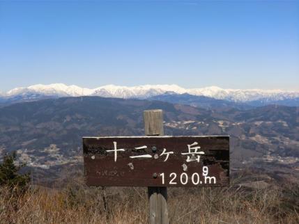 山頂から上越国境の山並み