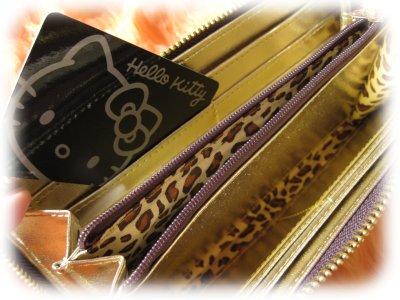 ロングウォレット(長財布)◆ハローキティー クロコエナメル型押し