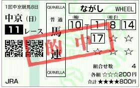 2012高松宮記念_馬連