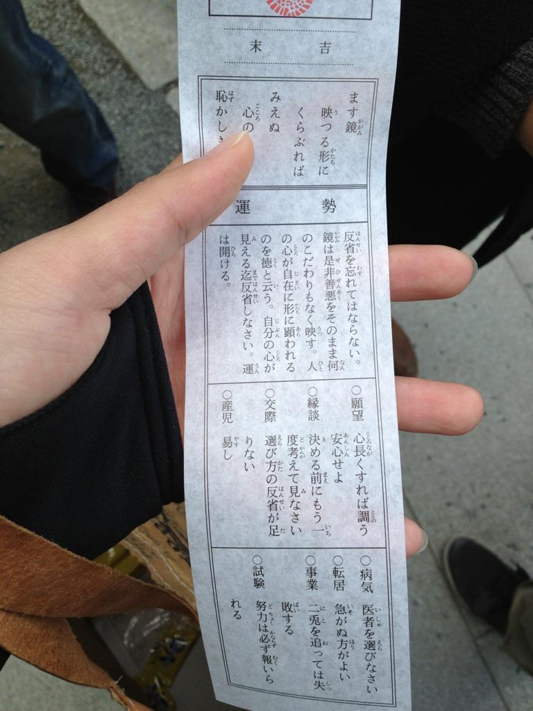 おみくじ2012