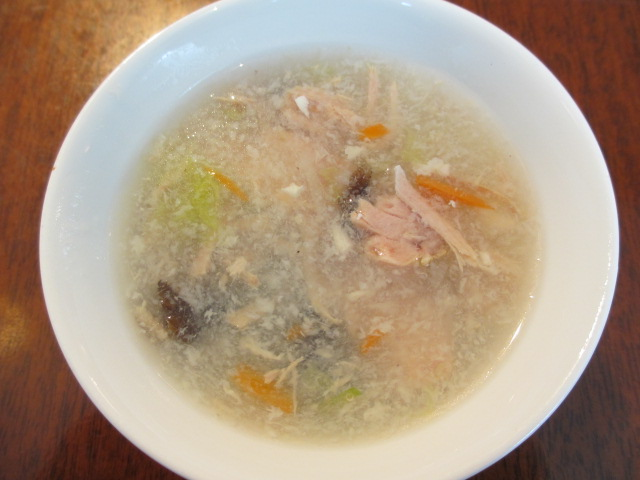 ホリデービーフンランチのスープ