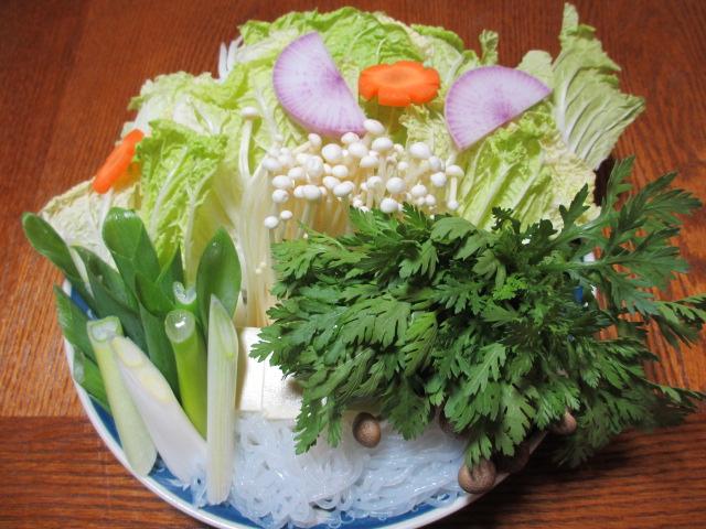 お鍋に入れる野菜