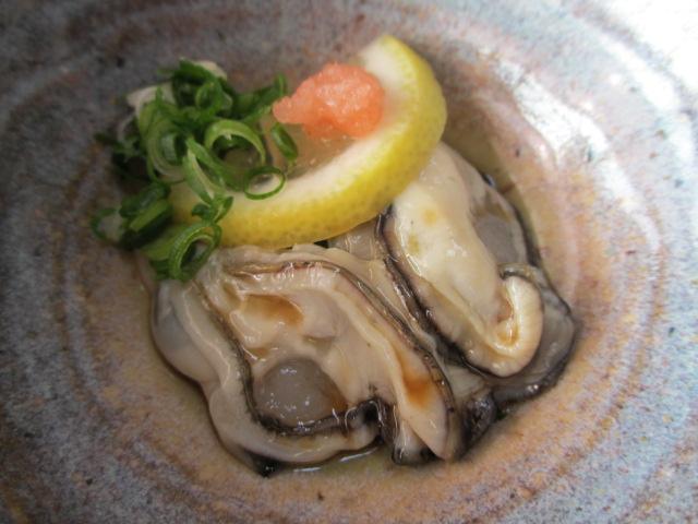 坂越御膳の酢牡蠣