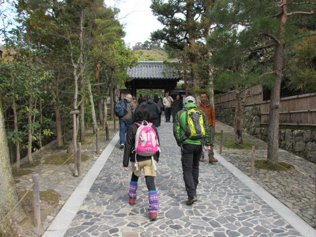 銀閣寺 入口へ