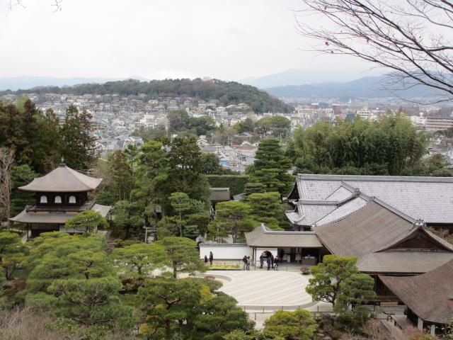 銀閣寺 山道から京都の街並み