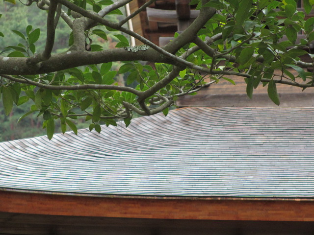 銀閣寺 銀閣の屋根3