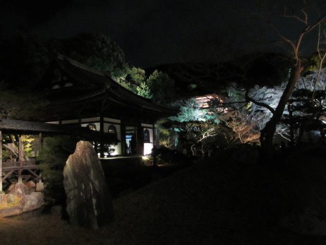 高台寺 観月台と開山堂(夜)