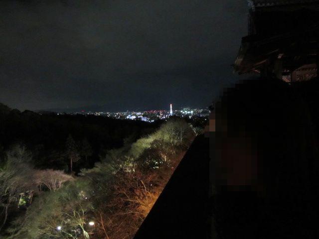 清水の舞台から京都駅方面