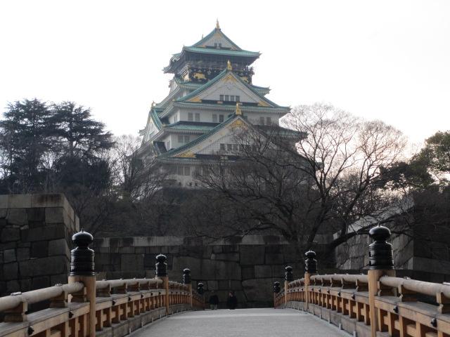 大阪城公園 極楽橋から大阪城