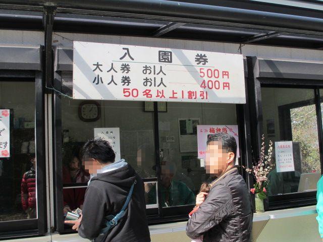 綾部山梅林 入園券売場
