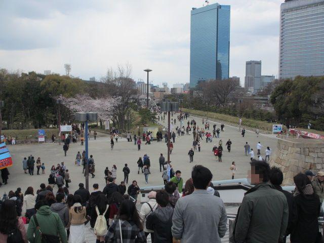 JR大阪城公園駅 階段