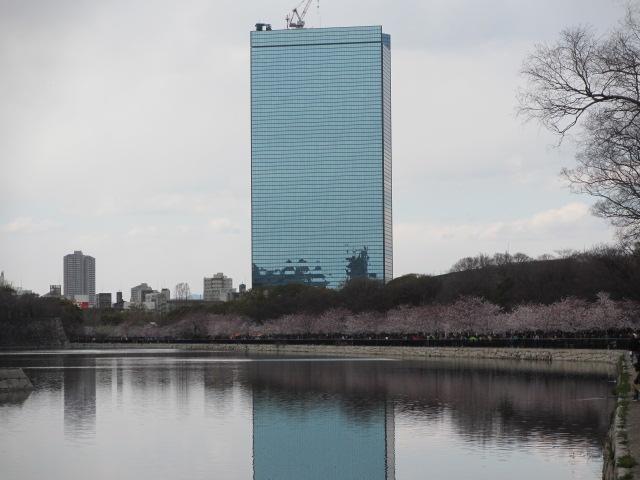 大阪城公園 外濠端