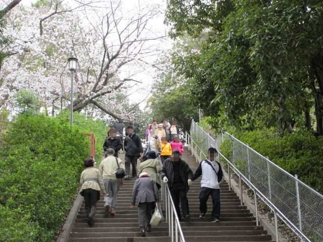 大阪城公園 天守閣へ