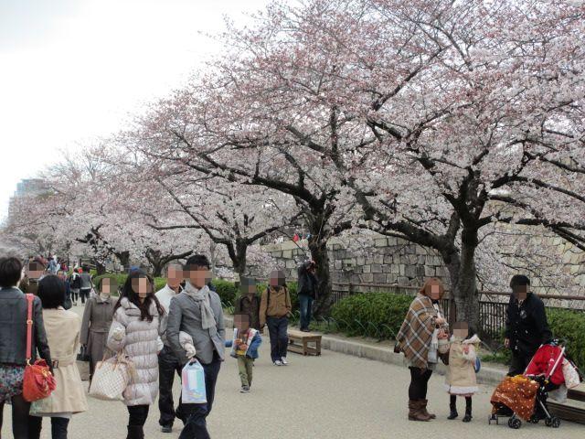 大阪城公園 内濠沿い