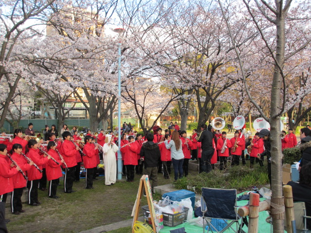 毛馬桜之宮公園 扇町総合高校2