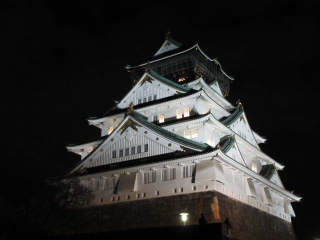 大阪城公園 天守閣ライトアップ