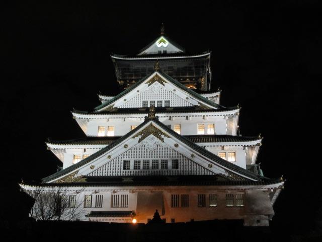 大阪城公園 天守閣ライトアップ3