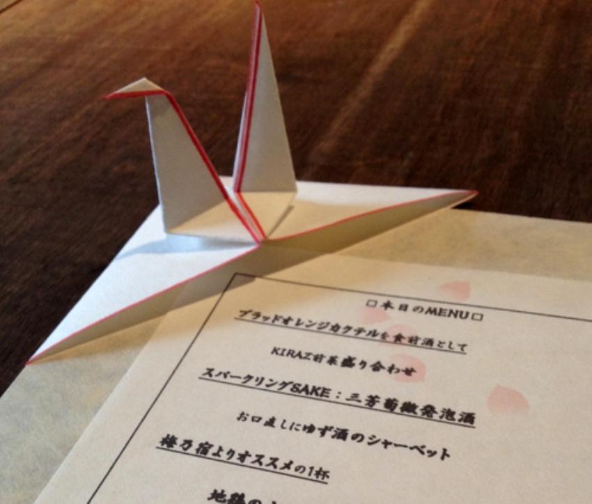鶴の祝い飾り