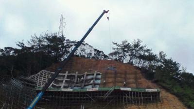 龍郷町役場横復旧現場5