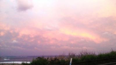 昨日の土浜の夕日1