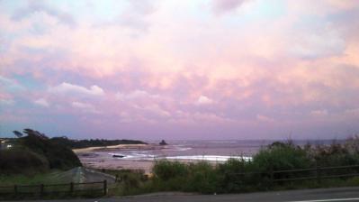 昨日の土浜の夕日2