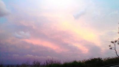 昨日の土浜の夕日3