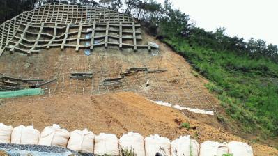 龍郷町浦役場横復旧現場93%6