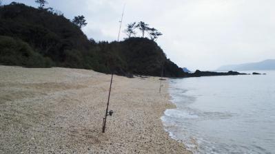 今朝の釣り、雨です1