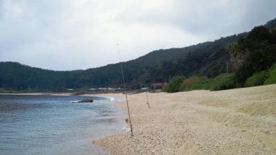 今朝の釣り、雨です2