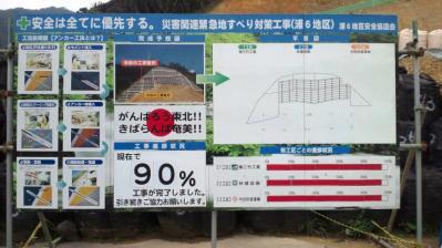 龍郷町浦役場横復旧現場=90%1