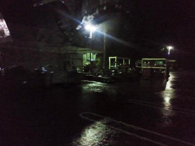 どしゃ降りのビックⅡ駐車場3