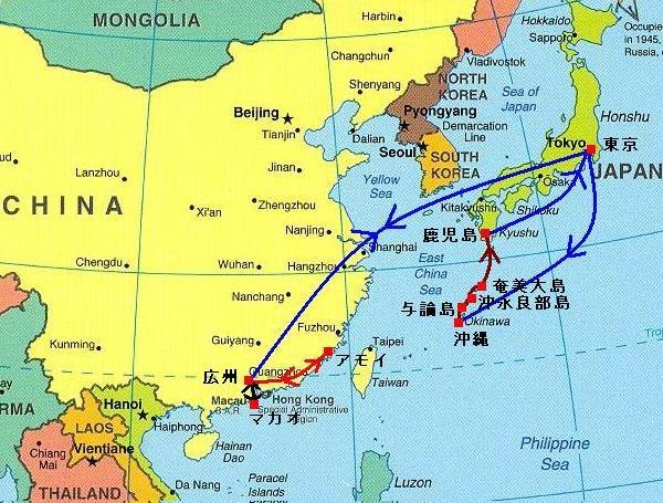 中国 沖縄 鹿児島の地図2.JPG