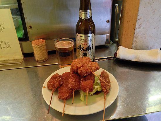 アサヒ小ビン&串カツ