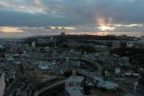 ベルデ名谷6番館高層から明石海峡方面&夕陽