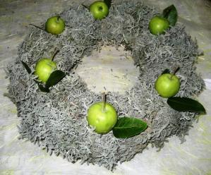 青リンゴのせ
