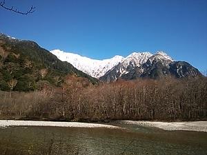 上高地から白銀穂高岳