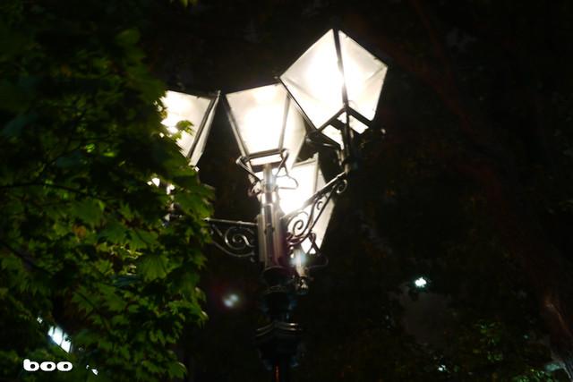 時計台の街灯