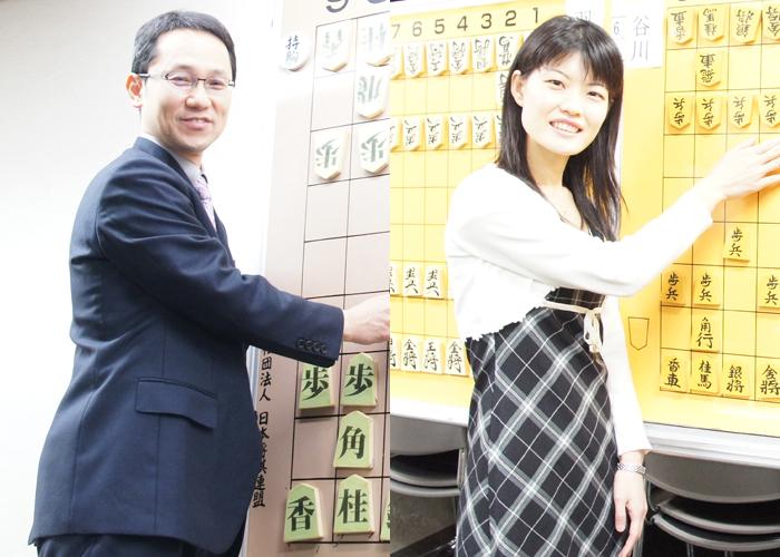 井上先生と智穂先生には「聞き手風」のポーズで撮っていただけました!