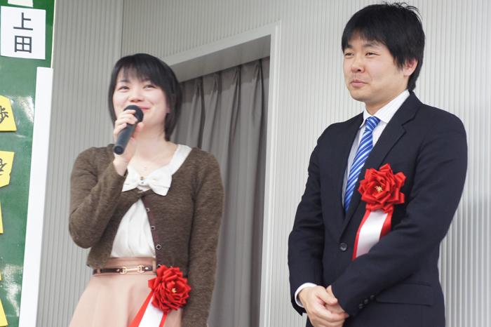 勝利した上田女王。今年の目標として上げられた内容がとっても素敵でした