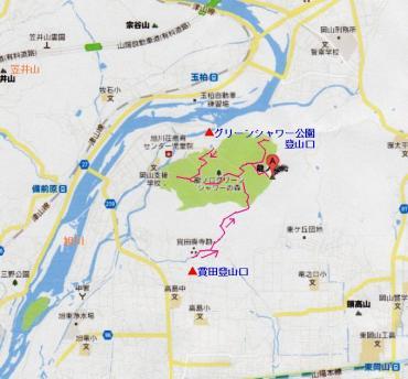 龍之口山 地図