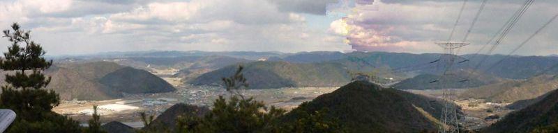 展望台から北方面の眺望 パノラマ画像