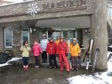 8時30分 スキー場へ出発 ゴンドラ駅へ徒歩で・・・