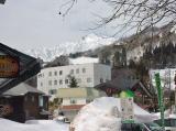 スキー資料館へ 白馬と周辺風景 バスターミナル