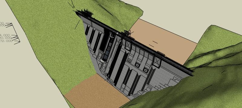 ダム地形図